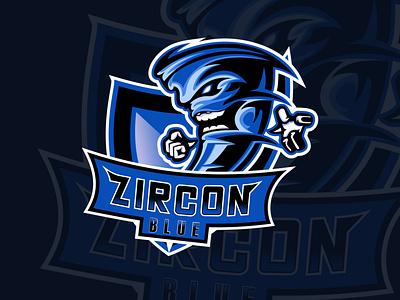 ZIRCON BLUE mascot logo mascotlogo mascot character logoesport logo esports logo esportlogo esport