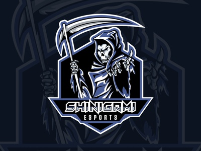 Shinigami mascot design mascot character mascot logomascot logos logoesport logo esports logo esportlogo esport