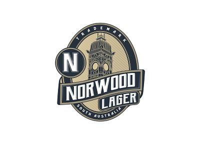 Norwood Lager Logo australia norwood lager beer branding vintage beer logo