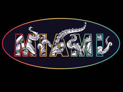 Miami Kraken Concept graphics design apparel logo branding design logo design vintage logo typography illustrator branding illustration