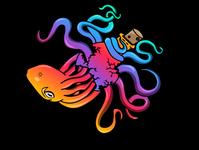 Octocolor 3000 tshirt apparel logo vector illustrator branding design logo design illustration