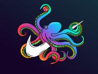 Octopus Nike Concept apparel logo vector branding design logo design illustrator illustration
