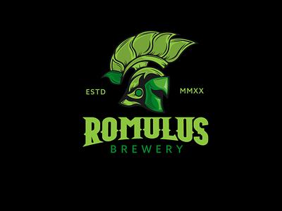 Romulus Brewing brewing company vintage logo logo branding branding design logo design illustrator illustration