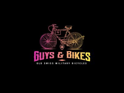 Guys and Bikes bikes vector vintage logo logo branding design logo design
