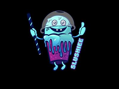 Slushiee design vector branding design illustration logodesign mascotlogo mascot characters characterdesign