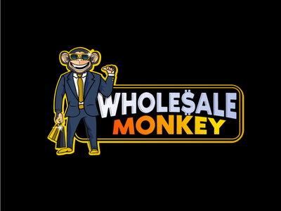 Wholesale monkey branding branding design illustrator illustration logodesign mascot character design monkey