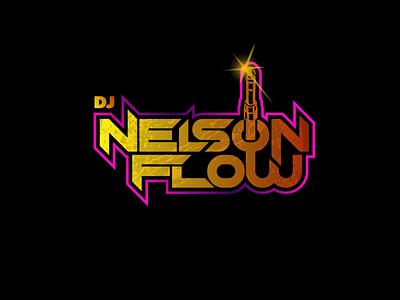 DJ Nelson Flow Concept typography branding logo design branding design illustrator illustration dj flyer band logo music logo logo dj