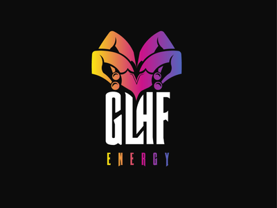 GLHF Energy Logo typography branding vector logo design branding design illustrator illustration gaming logo logo energy drink