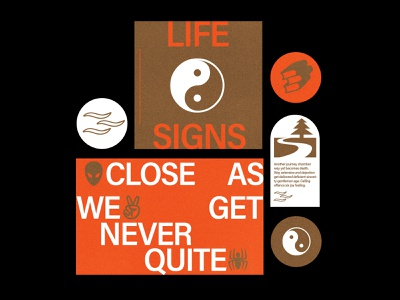 Life Signs design branding typography