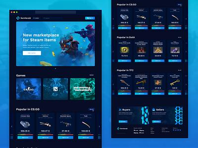 ItemHerald tf2 dota cs:go webdesign trading skins marketplace p2p esports gaming ux ui