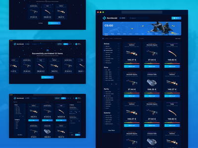 ItemHerald trading skins tf2 webdesign esports dota cs:go gaming ux ui