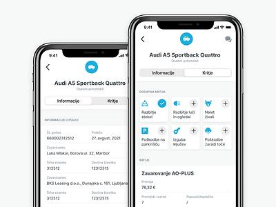 Insurance iOS App car insurance ux design ui design insurance insurance app app mobile app ux ui
