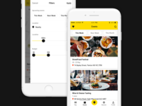 Food App - Events & Filters