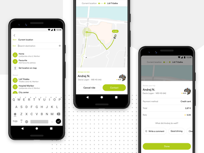 Cammeo - Selected Flow Screens lyft uber ride ridesharing mobile app ui  ux design taxi android app android app ux ui