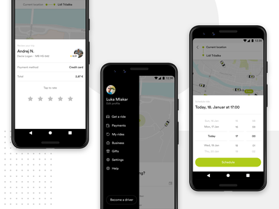 Cammeo - Other Screens ui ux app android android app taxi ui  ux design mobile app ridesharing ride uber lyft