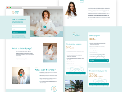 Intimi Yoga - Home website web web design homepage ux landing page ui