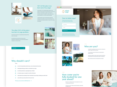 Intimi Yoga - About ui landing page ux homepage web design web website