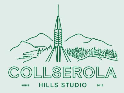 Collserola Hills handmade hills green trees mountain