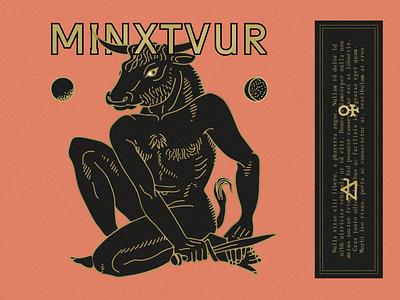 MINXTVR mystic taurus bull myth mythology wip raw ancient greek minotaur