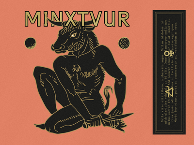 MINXTVR mystic taurus bull myth mythology wip raw ancient greek minotaur