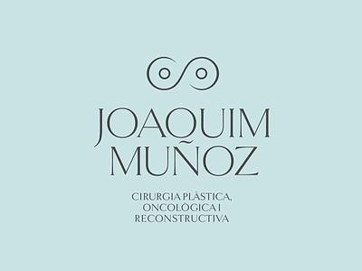 Joaquim Muñoz Plastic Surgeon Logo eternal infinity boobs tits light blue tiffany minimal logo surgeon plastic