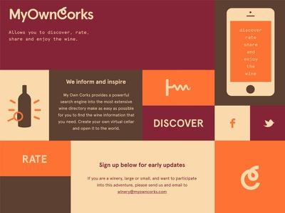 My Own Corks mobile app drink vino share discover rate inspire enjoy wine