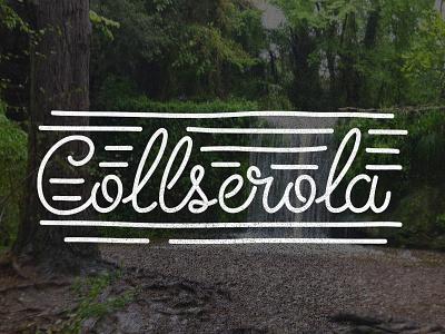 Collserola - La Resclosa logo hike handwriting letter handmade mountain