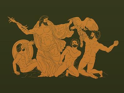 Zeus conquer Mount Olympus olympus mythology greek greece zeus