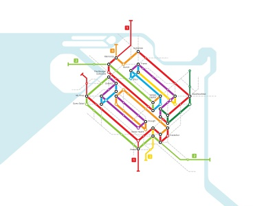 Subway Map transit locations stations metro railway vector subway prints print photoshop mark map logo illustration design canvas branding art
