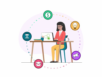 Work at home connection business people desk user technology team sketch school peoples parents education design data coworking collaboration chat app 2d