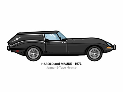 Harold and Maude harold and maude auto sport vehicle vector steel speed outline movie illustration iconic icon film engine dots design car action