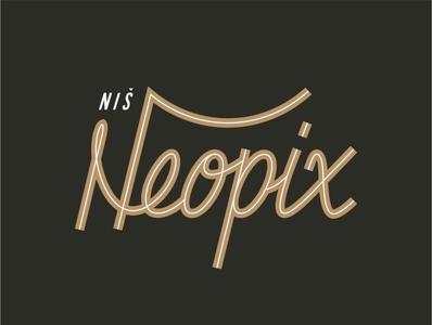 Neopix vintage typography type texture typeface monogram minimalist logotype logo lettermark illustration identity icon font letter design branding brand type art lettering