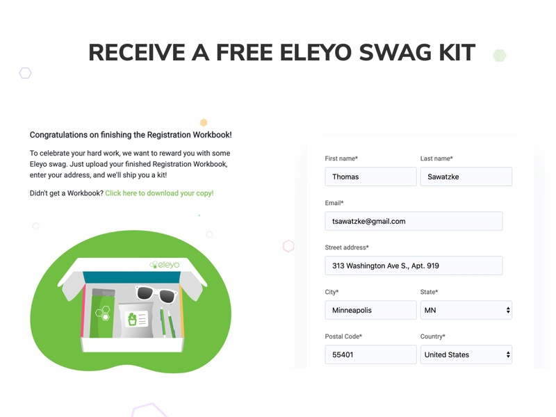 Eleyo Swagbox web vector web swag shapes packing packaging package minimal logo illustrator website flat design community branding box ui ux app