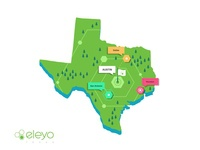 Texas RoadMap roadmap user ui ux symbol store online navigation mobile maping map locations location ios illustration icon set iconography flying events branding