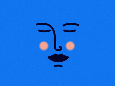 Lovely face woman texture smiley simple profile outline minimal love logo head girl flat face eyes design cute character branding avatar