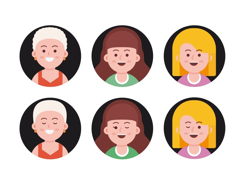 Avatar exploration woman vector social people member man illustration head flat faces face cute colorful design character branding avatar account
