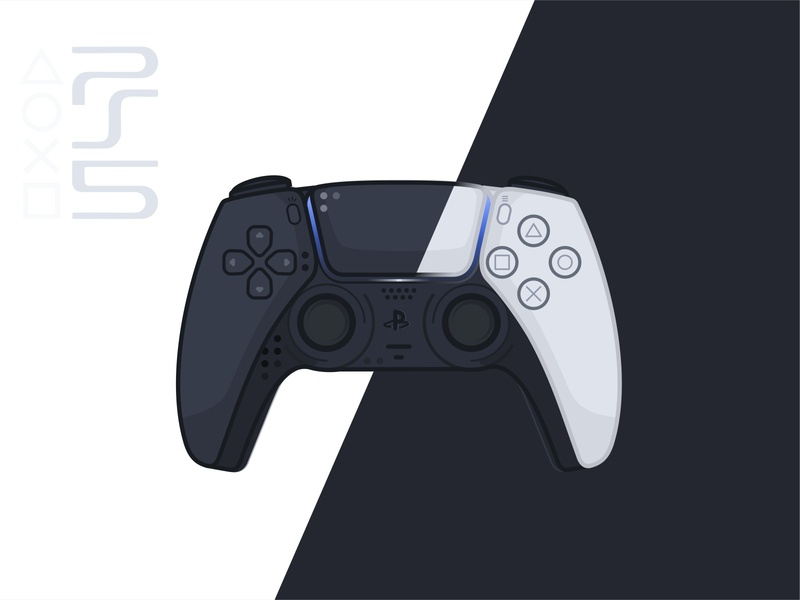 PS5 Controller videogame artworks vector ui ux sony ps4 playstation5 playstation4 playstation outline mockup icon gaming gamedesign five dualsense design controller classic branding