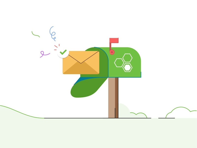 Eleyo Mailbox branding invite email icon marketing box company alert web ui ux mobile message mail box mail illustration design card app
