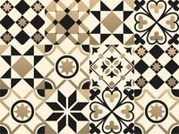 Tiles travel gold mark shape vector tiles summer seamless portugal pattern ornaments morocco islamic greeting geometric boho blue background ceramic arabian