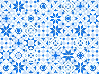 Tiles pattern vector travel tiles summer shape seamless portugal pattern ornaments morocco mark islamic greeting geometric ceramic boho blue background arabian
