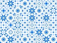 Tiles pattern vector travel tiles summer shape seamless portugal pattern ornaments morocco mark islamic greeting geometric ceramic boho blue background arabian