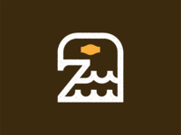 Eagle mark mascot minimal head usa badge american design branding font type symbol speed mark logo icon fly falcon eagle animal