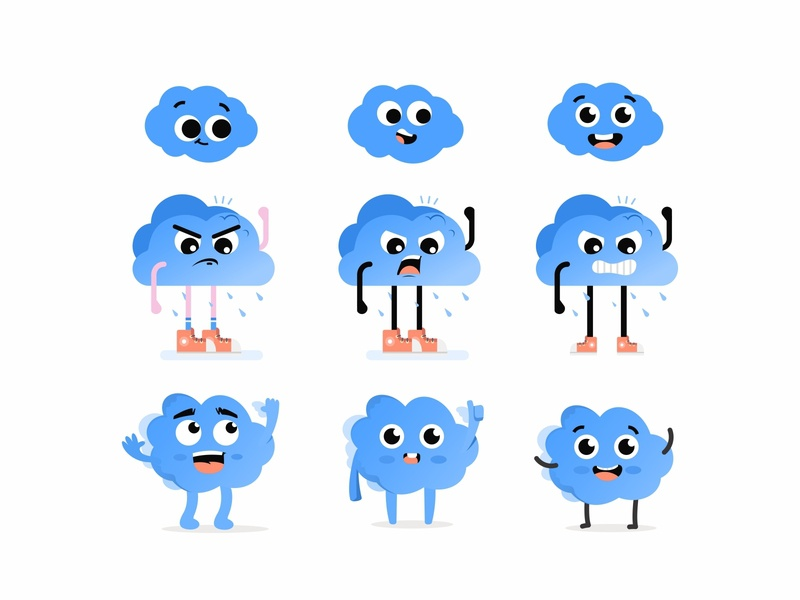 Cloud character cloud game art emoji avatar cute vector 2d create smile face illustration sketch drawing draw art concept design character cartoons cartooning