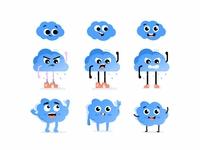 Cloud character cloud game art emoji avatar cute vector 2d create smile face illustration sketch drawing draw art concept design character cartoons cartooning