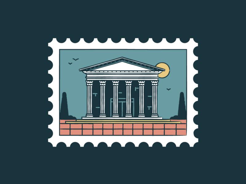 The Pantheon pantheon italy world wonder travel tourism symbol sunset monuments landmark icon set icon iconography graphic rome card buildings badge architecture