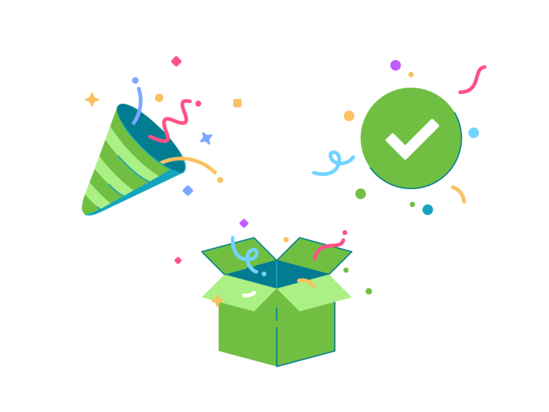 Celebrate web verification user symbol successful success payment paycheck mark logo party identity identification icon set connection check branding happy