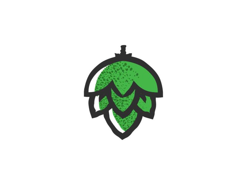 Hops plant symbol label badge brewery branding craft beer typography type logo ipa illustration identity hops craft brew brand beer alcohol