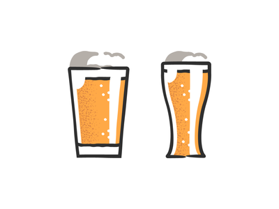 Beer glasses 🍺🍺 design plant symbol label badge brewery branding craft beer typography type logo ipa illustration identity hops craft brew brand beer alcohol