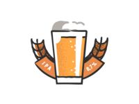 Ipa Beer design plant symbol label badge brewery branding craft beer typography type logo ipa illustration identity hops craft brew brand beer alcohol