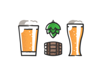 Beer icons design plant symbol label badge brewery branding craft beer typography type logo ipa illustration identity hops craft brew brand beer alcohol